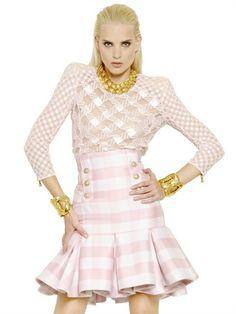 Balmain top and skirt