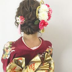 Coming Of Age, Kimono Fashion, Traditional Dresses, My Hair, Hair Makeup, Hair Styles, Wedding, Japanese Hairstyles, Women