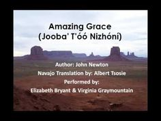 This video provides the lyrics to the famous hymnal, Amazing Grace, written by John Newton and translated in the Navajo language by Albert Tsosie. Native American Songs, Native American History, Navajo Words, Gospel Song Lyrics, Navajo Language, Navajo Culture, Code Talker, John Newton, Navajo Nation