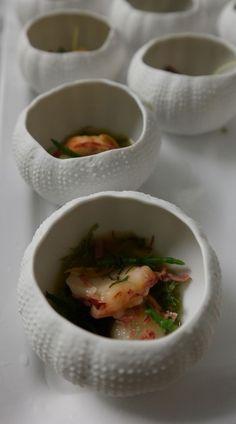 Gorgeous sea urchin bowls at Rota das Estrelas via @Skimbaco Lifestyle (Skimbacolifestyle.com) #portugal
