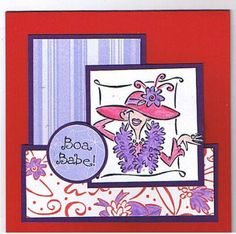 Red Hat Boa Babe by Clownmom - Cards and Paper Crafts at Splitcoaststampers