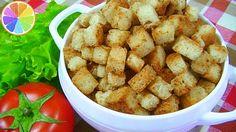 Чесночные СУХАРИКИ для салатов – 2 простых способа приготовления.