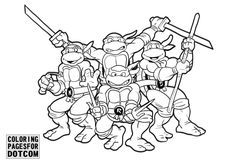 zombie ninja turtle coloring pages - photo#44