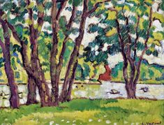 Growth of Boulogne Forest, Louis Valtat Barbizon School, Pierre Bonnard, Fauvism, Modern Artists, Henri Matisse, Renoir, National Museum, Art Drawings, Scenery