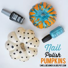 Paint Pumpkins with Nail Polish (tween or kid Halloween party craft project)