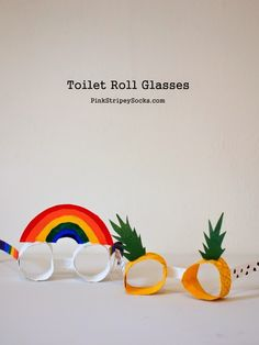how to make toilet roll glasses