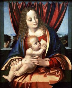 Madonna and child 1490  by Marco d'Oggiono (1470 – 1549)