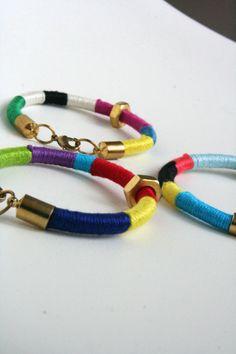 Colorful Thread Wrap Bracelet