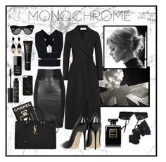 """Monochrome"" by ruzsi ❤ liked on Polyvore featuring Reger by Janet Reger, Chanel, NARS Cosmetics, Linda Farrow, Givenchy, Harris Wharf London, STELLA McCARTNEY, SLY 010, Jimmy Choo and Assouline Publishing"