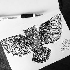 My tattoo sketch of owl #tattoo #owl #tattooowl #sketch #sketchbook #art #drawingofowl #drawing #тату #эскиз #эскизтатуировки #рисунок #сова #рисуноксовы