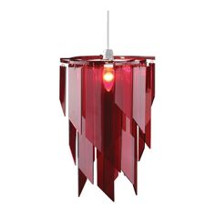 Premier Housewares Non Electric Pendant Light in Red A