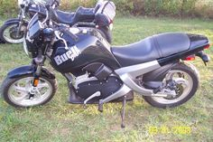 My first motorcycle, a buell blast.  Great starter bike.