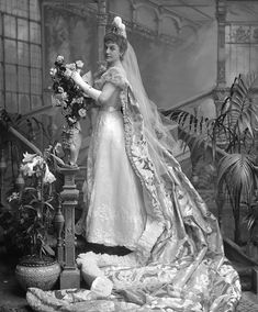 Image of lady howard de walden, later lady ludlow, photo lafayette portrait studios. london, england, late century by V&A Images Court Dresses, Royal Dresses, Court Attire, Royal Photography, 1890s Fashion, Victorian Women, Edwardian Era, Mother Of Groom Dresses, Dress Images