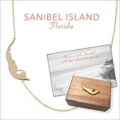 Keep a little Sanibel with you wherever you go // available in solid 14k gold or sterling silver  #gifts #giftideas #travel #gold #florida #sanibel #island #necklace #jewelry #christmas