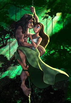 Tarzan and Jane color by Zen-draw