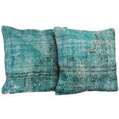 Dig It Gold Turquoise Throw Pillow 20 liked on Polyvore
