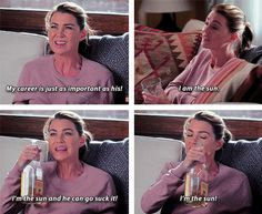 """When Meredith had to really work to embrace her self-worth. 17 Times """"Grey's Anatomy"""" Got Hilariously Real Greys Anatomy Funny, Grey Anatomy Quotes, Anatomy Humor, Greys Anatomy Scrubs, Greys Anatomy Cast, Cristina Yang, Meredith And Christina, Tv Quotes, Movie Quotes"""