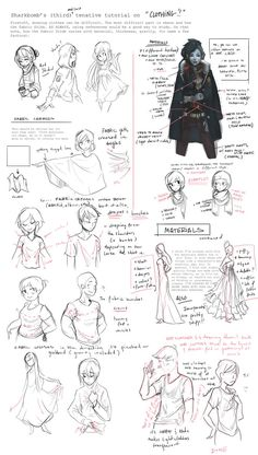 Clothing Tutorial (Notes) by shark-bomb on deviantART