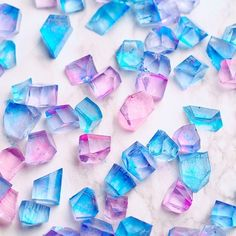 Japanese cotton candy colour jello-jewels
