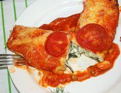 Tortillawraps met romige spinazie-feta vulling