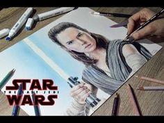 Drawing Rey (Daisy Ridley) | Star Wars: The Last Jedi - YouTube