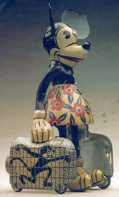 MICKEY MOUSE ~ wind-up toy, 1930's.