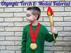 Plush Olympic Torch & Gold Medal making tutorial @ sewcando.com