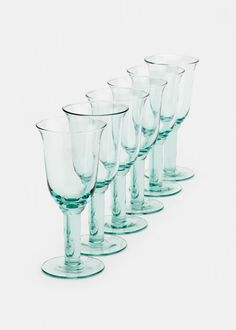 Best Valentine's Day Gifts Under $100: Eurpose2You Recycled Glass White Wine Goblets (Set of 6), $86