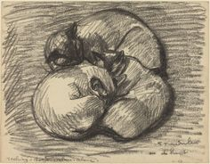 Steinlen, Théophile Alexandre  Swiss, 1859 - 1923  The Cats: Tsching, Batzar and Blanc-Blanc  charcoal  overall: 22.6 x 29 cm (8 7/8 x 11 7/16 in.)  Rosenwald Collection1943.3.8031 National Gallery of Art, WDC
