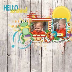 Layout using {Hello Sunshine} Digital Scrapbook Kit by Melissa Bennett available at Sweet Shoppe Designs http://www.sweetshoppedesigns.com/sweetshoppe/product.php?productid=30652&cat=746&page=1 #melissabennett #melissabennettdesigns