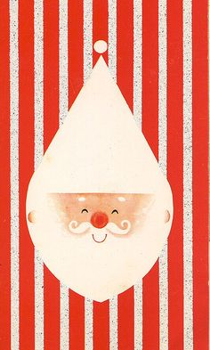 50s modern graphic Christmas card