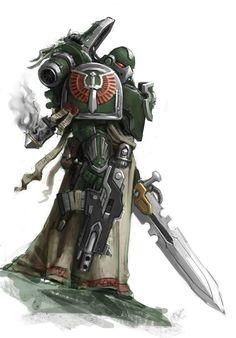 Billedresultat for dark angels robes primaris marines Warhammer 40k Art, Warhammer Models, Warhammer 40k Miniatures, Warhammer Fantasy, Space Marine, Dark Angels 40k, Fallen Angels, Grey Knights, Angel Of Death