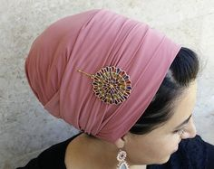 Lycra hecho a mano una envoltura Tichel judía cabeza