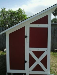 Use an existing shed and put this on the side.  pretty neat...needs a pin, tho!