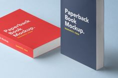 A clean isometric paperback psd book mockup. You can showcase and add your print designs with ease thanks to the smart...
