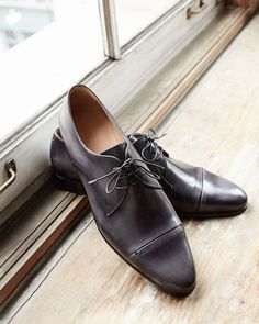 Berluti Gaspard Slash-Toe Leather Shoe
