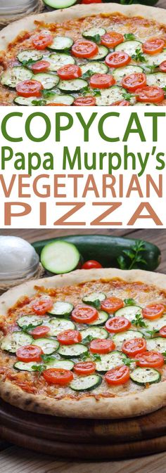 Copycat Papa Murphy's Pizza is an easy recipe that has dinner done in a flash tonight. This easy pizza includes a healthy dose of veggies.