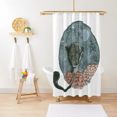 'Untitled' Shower Curtain by RAbeille Canvas Prints, Art Prints, Buttonholes, Cotton Tote Bags, Comforters, Coasters, Kids Rugs, Curtains, Shower