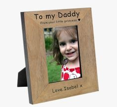 Personalised To My Daddy From Your Little Princess Wooden Photo Frame - Unique Inspired Gift Ideas From Tain Brae World