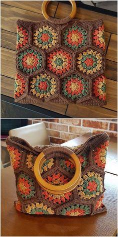 Ladies shawl crochet pattern idea - - More Tutorial and Ideas einfach Tutorials Shawl Crochet, Crochet Shrug Pattern, Granny Square Crochet Pattern, Filet Crochet, Crochet Scarves, Crochet Motif, Crochet Designs, Granny Square Bag, Crochet Handbags