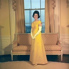 First ladies' fashion... Claudia Alta Lady Bird Taylor Johnson. Married to Lyndon B. Johnson, in office 1963-1969.