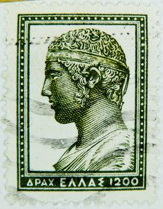 Delphi Greece, Greek Royalty, Ancient Greek Art, Love Stamps, Vintage Stamps, Fauna, Mail Art, Stamp Collecting, My Stamp