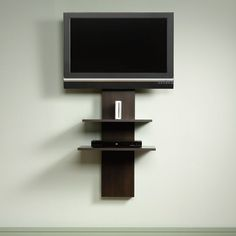 beginnings tv stand in cinnamon wall mount