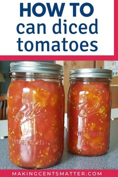 Learn how to can diced tomatoes today with this step by step tutorial. Canning Soup Recipes, Pressure Canning Recipes, Canning Rack, Frugal Meals, Frugal Recipes, Freezer Meals, Canning Diced Tomatoes, Dehydrator Recipes