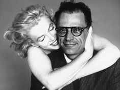 Richard Avedon photo of Marilyn and husband/great playwright Arthur Miller, May 8, 1957.