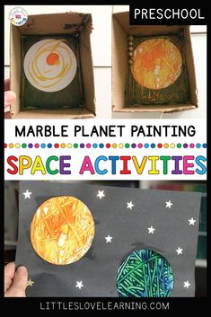 Marble Planet Painting Plus MORE Space Activities for Preschool & Pre-K