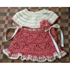 Crochet Flower Baby Girl Dress By Amore #winterbabyclothes #babyboutique #trendybabyclothes