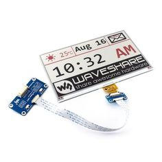 USD 68.99 Free Shipping, Wholesale Price, Waveshare 7.5 Inch E-Ink Display HAT 640x384 Three-color for Raspberry Pi