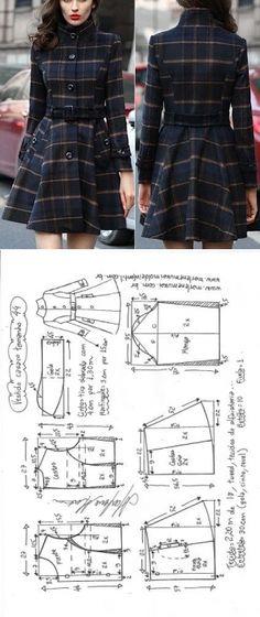 Vestido casaco | DIY - molde, corte e costura - Marlene Mukai // Taika