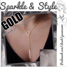 NEW LISTINGGold tone necklace Fashionable gold tone necklace. Simple and beautiful. NEW8 available Other